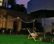 Hostel with a garden